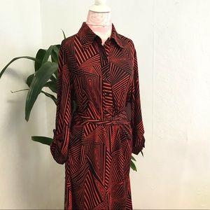 🎉 Melissa Masse - Mini Abstract Shirt Dress
